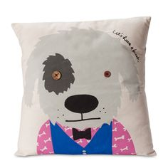 Bobby Dazzler – Rex 'Lets have a break' cushion.  Quite the dapper dog. I like.