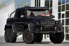 Brabus B63S - The B63S is an insanely overbuilt version of the G63 6X6 that features heaps of carbon fiber, 40 cows worth of leather inside, and a 5.5-liter V8 that pumps out 700 horses. | Werd