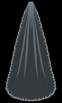 En Vogue Bridal Accessories - Cathedral Bridal Veil | V1392C (http://www.envogueaccessories.com/Bridal-english-tulle-cathedral-veil-v1392c/)