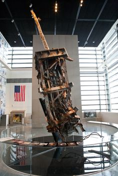 The United States was attacked when terrorists crashed commercial airliners into the twin towers of the World Trade Center, the Pentagon and in a field in Shanksville, Pa., on Sept. 11, 2001. The mangled antenna from the North Tower of the World Trade Center is displayed in the Newseum's 9/11 Gallery; Washington, DC.