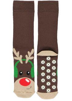 Reindeer Slipper Socks Slipper Socks, Slippers, Matalan, Leggings, Owls, Reindeer, Monkey, Underwear, Change