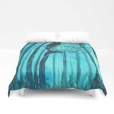 Moby´s Forest - Turquoise Duvet Cover Turquoise Duvet Cover, Celtic Circle, Purple Palette, The Ancient One, Princess And The Pea, Anne Of Green, Watercolor Texture, Blue Art, Stores