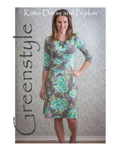 Katie Dress and Peplum PDF Sewing Pattern – GreenStyleCreations