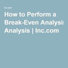 break even analysis p15 32 For debugging and analysis: summarise the file's biff records ie produce a sorted file of (record_name, count) (index of row after break, start col index, end col.