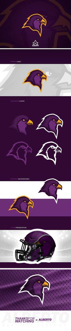 Hawk Mascot Logo, for sale