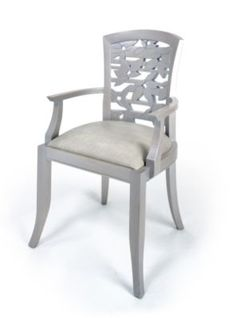 A #platinum hand-carved Aspen armchair by #DianePaparoStudio #luxeNY | See MORE at www.luxesource.com | #luxemag | #interiordesign #design #interiors #decor