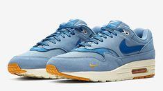 sports shoes ed929 316a2 Nike Air Max 1 Premium Mini Swoosh Blue Chaussure, Air Max 1, Mode Bleu