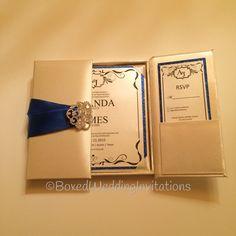 ✨inertial Blue wedding. What do you think about it? Beautiful silk gatefold invitation adorned with imperial blue ribbon and crystal clasp. Wedding invitation & RSVP card with blue glitter trim✨. See more at www.boxedweddinginvitations.com #wedding #invitation #gatefold #invitationbox #blacktiewedding #weddings #invitations #bridetobe #bride #bridesmaides #newyorkwedding #miamiwedding #houstonwedding #engaged #weddinginspiration #weddingplanner #luxuryweddinginvitations #luxuryinvitations