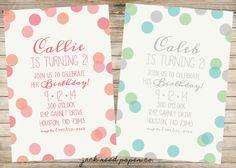 Jack Reed, Birthday Party Invitations, Birthday Parties, Polka Dot Birthday, Papers Co, Polka Dots, Printables, Handmade Gifts, Frame