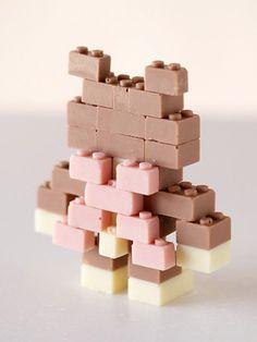 Juguetes Lego de chocolate para niños