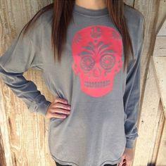 Personalized Sugar Skull Shirt by DashForward on Etsy