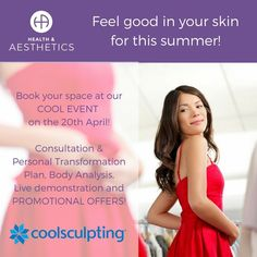Stubborn fat has met its match! #Fatfreezing by #CoolSculpting available at Health & Aesthetics in #Elstead, #Surrey. RSVP for our #CoolEvent on the 20th April and receive a FREE one-to-one consultation with amazing promotional offer on the day! 01252 933 133!