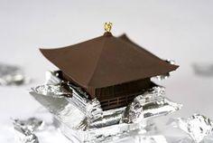 Kinkakuji (Golden Pavilion) chocolate. #Kyoto