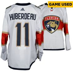 Jonathan Huberdeau Florida Panthers Fanatics Authentic Game-Used  27 White  Set 3 Jersey with Marjory Stoneman Douglas Patch Worn Between March 19 fd08d6fca