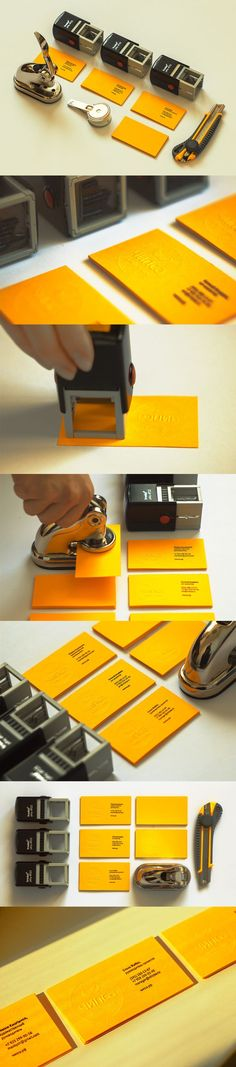 great branding... stamps & embossing business cards