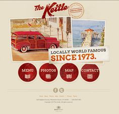 thekettle.net - A really well design retro themed website with excellent use of paper texture. Found at http://cssnature.org.