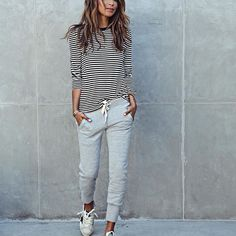 Back to comfort! ❤️/ Back in stock my fave Lux joggers + tee @shop_sincerelyjules ... shopsincerelyjules.com (link in bio!)