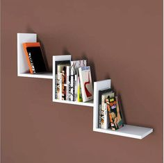 Bookshelves For Small Spaces, Creative Bookshelves, Bookshelves In Bedroom, Bookshelf Design, Wall Shelves Design, Diy Wall Shelves, Bookshelf Styling, Floating Shelves, Cube Furniture
