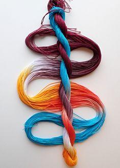 Size 80 Sugar Maple hand dyed thread tatting crochet cotton 6 cord cordonnet