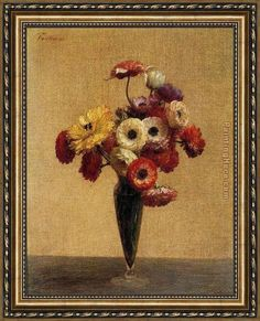 Henri Fantin-Latour Anemones and Buttercups Framed Painting