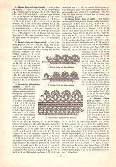 """""""Häkel- und Strickmuster der Modenwelt - 1. Sammlung"""" hrsg. von Franz Lipperheide, Berlin, 1897"""