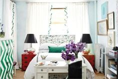 Or, instead of a footboard, use your desk. | 23 Hacks For Your Tiny Bedroom