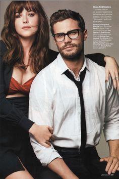 Jamie Dornan and Dakota Johnson | Fifty Shades of Grey | Glamour magazine