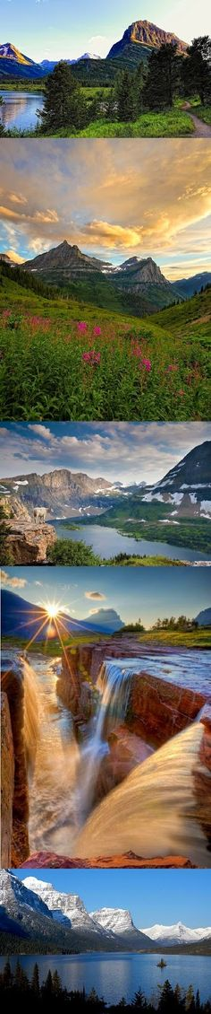 Glacier National Park, Montana -(this place is true paradise with crystal clear water)! Oh The Places You'll Go, Places To Travel, Places To Visit, Glacier National Park Montana, Glacier Park, Wyoming, Beautiful World, Beautiful Places, Parque Natural
