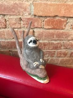 Needle Felted Soft Sculpture Gifts by Needle Felted Animals, Felt Animals, Needle Felting, Baby Sloth, Cute Sloth, Pictures Of Sloths, Felt Gifts, Quirky Gifts, Amigurumi