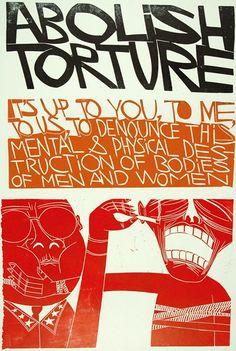 Abolish Torture  The Paul Peter Piech Collection   Yale College – Regional Print Centre