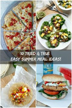 Tried & True EASY Summer Meal Ideas!