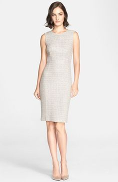 St. John Collection Textured Tweed Knit Sheath Dress available at #Nordstrom