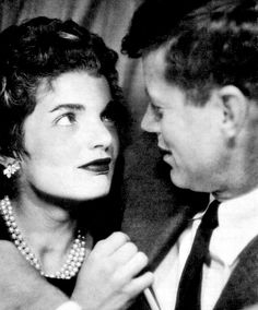 JFK and Jackie in a photo booth, c. 1953