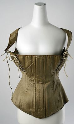 Nursing corset.  c. 1810-1850 C.E.  In the Metropolitan Museum of Art, New York.