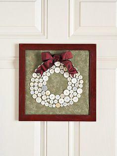 Button wreath.