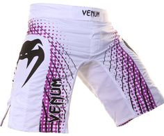 Venum Electron MMA Shorts - Purple and White