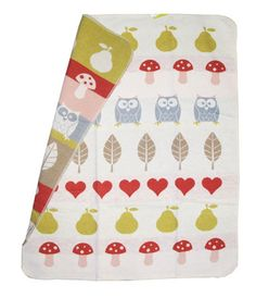 Little Owls Blanket - soft and perfect for owl decor!