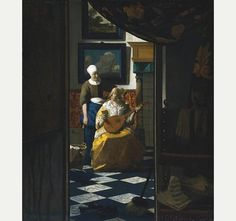 The Love Letter by Johannes Vermeer