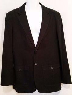Men's Claiborne Black Sport Jacket Size 42L #Claiborne #TwoButton