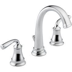 Delta�Lorain Chrome 2-Handle Widespread WaterSense Bathroom Sink Faucet (Drain Included) Lowes