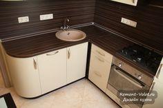 Бежевая кухня 6 кв.м. за 3200$ с фартуком венге