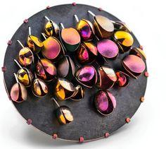 Meghan O'Rourke Jewellery, Anodised Aluminium Brooch | meghanoroukejewellery.com