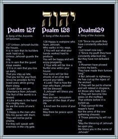 Psalm 127//Psalm 128//Psalm129