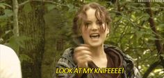 Jennifer Lawrence (look at the disappointment on her face when he takes the knife away...)