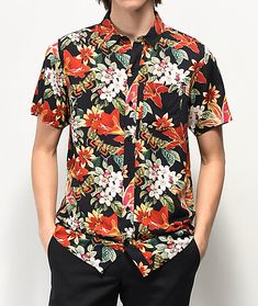 ac659498b6 Empyre Willy Black Short Sleeve Button Up Shirt