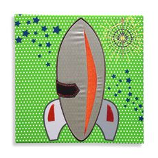 Studio Arts Kids Rocket Ship Embellished Wall Art $25
