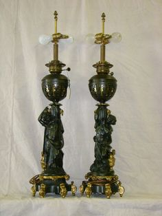 19th Century Pair of Figural Lamps