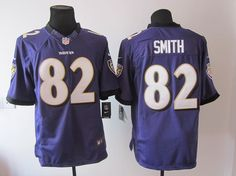 Limited #82 purple Smith Nike Baltimore Ravens Jersey  ID:515610558$$23