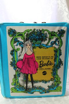 1968 Barbie doll case. # 1002 Where are your Barbie clothes? Well they should be in here.... Great looking retro Barbie collectible case.