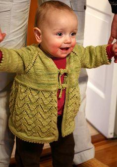 Helena baby sweater - Summer 2008 - Knitty